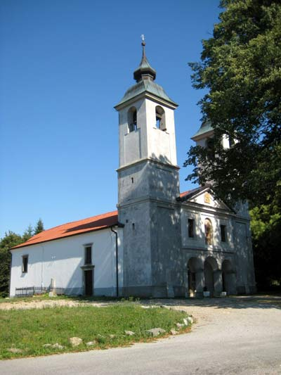 The church of the assumption of the blessed virgin Mary from the 15th century in Vremski Britof